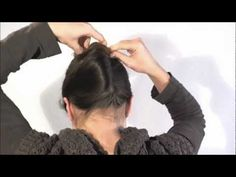 [Hairstyle] 1 minute french twist with a stick - YouTube