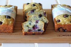 Buttermilk Banana Blueberry Bread