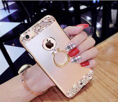 Diamanten Metall Handyhülle mit Ring für Iphone6/6plus/7/7plus