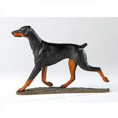 Doberman figurine ornament Border Fine Arts