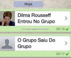 Imagem para zoar no Whatsapp - Dilma entrou no grupo