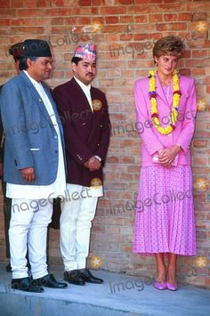 Dave Chancellor_alpha M013127 March 1993 Princess Diana, Crown Prince Dipendra Kathmandu, Nepal Credit: Alpha/Globe Photos, Inc.