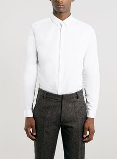 Premium White Long Sleeve Smart Shirt