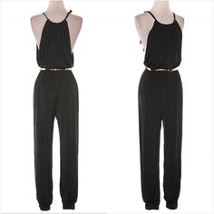 Black Jumpsuit w/ a touch of gold