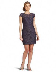 c35d02ef18 Adrianna Papell Women s Cap-Sleeve Stretch-Lace Dress  WomenFashionClothes Vestidos  Informales