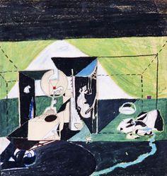 Antonio Pernici, Senza titolo, 1977, Inchiostro e pastello a olio su carta, 42x40 cm. #sketch