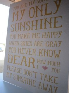 :) my mom sang this to me... a must for my future baby's nursery @Debbie Yates