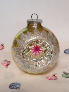 Christmas ornament glass vintage West Germany
