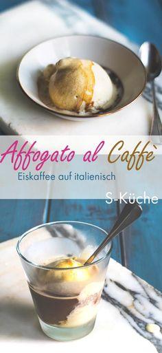 Großartiges Rezept für Vanilleeis Affogato al Caffè - Eiskaffee auf italienisch aus gutem Espresso und bestem Vanilleeis