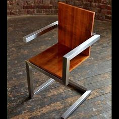 to ignore your Neighbors in Style! Modern Industrial Metal and wood chair.Modern Industrial Metal and wood chair. Metal And Wood Chairs, Industrial Metal Chairs, Industrial Design Furniture, Modern Industrial, Wood And Metal, Industrial Decorating, Industrial Shelving, Industrial Lighting, Industrial Bedroom