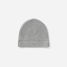 e85d4202b3111 The Wool-Cashmere Rib Beanie - Heather Grey