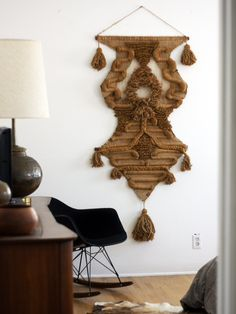 Don Freedman macrame wall hanging from 1976