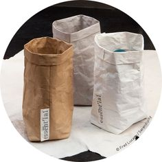 wasmand Large paper alike basket made of recycled cellulose fibbers.Washable to 30�C as a fabric. Sold at Serendipity's