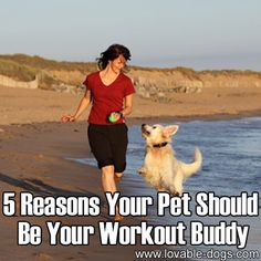 5 Reasons Your Pet Should Be Your Workout Buddy►►http://lovable-dogs.com/5-reasons-your-pet-should-be-your-workout-buddy/?i=p