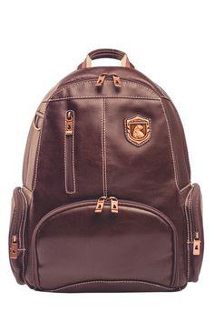 Leather rucksack with compartment for laptop Nordweg...  Mochila de cuero con compartimento para portátil Nordweg...