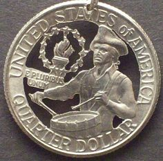 Bicentennial Quarter Cut Coin Jewelry $19.95