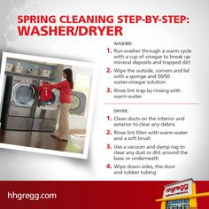 Use our #checklist to give your washer & dryer the care they need! Click to read for more tips.