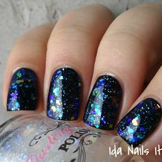 Darling Diva Polish You Killed Frosty!! Layered over Cirque Colors Memento Mori