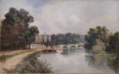 Cholmondeley Walk, Looking Towards Richmond Bridge, Surrey Richmond Bridge, Richmond Surrey, Beautiful Streets, Beautiful Places, River Thames, Old Photos, The Hamptons, Photo Art, England