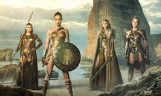 From left to right, we've got Lisa Loven Kongsli as Menalippe, Gal Gadot as Diana, Connie Nielsen as Hippolyta, and Robin Wright as Antiope. Description from thanley.wordpress.com. I searched for this on bing.com/images