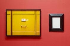 """SOPHIE CALLE """"Tableaux dérobés : Lucian Freud, Portrait de Francis Bacon"""" 1998-2013  Colour photograph, text, frames / Photographie couleur, texte, encadrements  17 x 22 3/4 inches (photo) 11 3/4 x 9 3/4 inches (text) 6 x 7 3/4 inches (introduction text) / 43 x 58 cm (photo) 30 x 25 cm (texte) 15 x 20 cm (texte d'introduction) 1/2 FR + 1AP"""