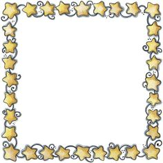 Moons and Stars: Free Printable Frames, Borders and Labels. Cute Clipart, Frame Clipart, Borders For Paper, Borders And Frames, Star Illustration, Illustrations, Page Boarders, Winnie The Pooh Drawing, Printable Frames