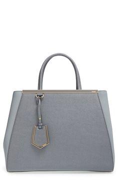 FENDI '2Jours Elite' Leather Shopper. #fendi #bags #shoulder bags #leather #lining