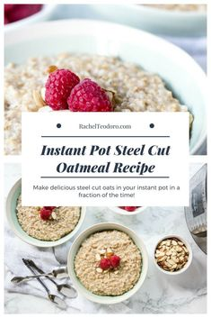 How to make the perfect steel cut oatmeal in your instant pot. The full recipe for fool proof steel-cut oats every time . Best Breakfast Recipes, Make Ahead Breakfast, Brunch Recipes, Breakfast Ideas, Brunch Dishes, Breakfast Time, Oatmeal Recipes, Pressure Cooker Recipes, Easy Desserts
