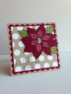 Love how Debbie Grueser pieced together the poinsettia from the Joyful Christmas Set