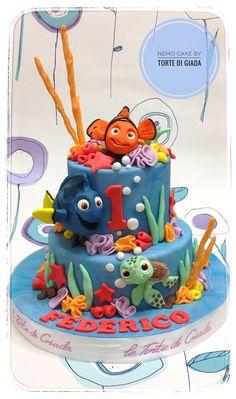 Nemo Cake per una festa di compleanno speciale, c'erano tutti gli animali fantastici del cartone animato www.tortedigiada.com torte personalizzate a Brescia