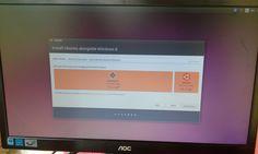 En esta ventana vemos las partición de el ubuntu