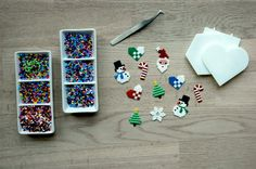 Xmas decoration with mini Hama pearls