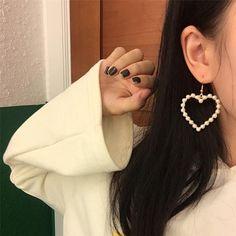 PEARL HEARTS MINIMAL EARRINGS  #pearl #pearls #metallic #gold #silver #heart #vintage #hearts #cute #kawaii #earrings #accessories #jewlery #chain #pink #gray  #ulzzang #southkorean #koreanfashion #fashion #trendy #cute #kawaii #harajuku #aesthetic #aesthetics #bottoms #bottom #japanese #tumblr #tumblrgirl #tumblroutfit #clothing #outfit #itgirlshop #itgirlclothing