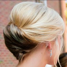 A chic, timeless updo like this is ideal for any member of the bridal party. Including moms! #weddings