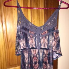Prettiest Aritzia tank ♥️ Beautiful printed tank top with lace detailing on straps. Slightly longer than standard tank so this looks super cute with leggings or jeans. Worn 1x- excellent condition. Aritzia Tops Tank Tops