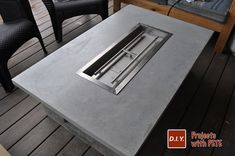 How to Make an Outdoor Gas Fireplace Learn how to make an outdoor gas fireplace. Detailed Video tutorial, photos, and plans.This is a high end looking fireplace made out of concrete!<br> DIY Inspiration for the Average DIY'er Outdoor Propane Fireplace, Foyer Propane, Diy Propane Fire Pit, Wood Fire Pit, Gas Fire Pit Table, Diy Fire Pit, Diy Fireplace, Fire Pit Backyard, Fire Pits