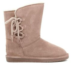 BEARPAW® Aspen Suede Side-Lace Boot with NeverWet™ -