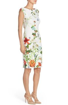 Free shipping and returns on Gabby Skye Floral Scuba Sheath Dress at Nordstrom.com. Springtime blooms amplify the romantic charm of a figure-flattering sheath dress balanced by on-trend scuba-knit construction.