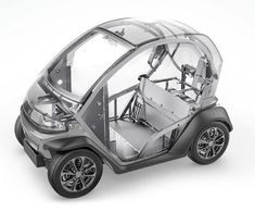 Two of the average urban driver's main concerns are being addressed by the Eli ZERO, a compact electric car that is now available for pre-order. Electric Car Concept, Electric Cars, Automotive Engineering, Automotive Design, Microcar, Smart Car, Motorcycle Design, Future Car, Go Kart