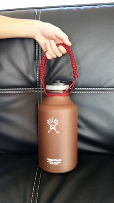 Add some color and functionality to your widemouth Hydro Flask water bottle! Various colors are available. All holders are handmade to order.