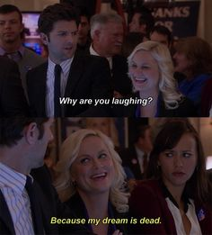 Parks and Rec - Leslie Knope is my spirit animal Parks And Rec Memes, Parks And Recreation, Parcs And Rec, Why Are You Laughing, Best Shows Ever, Best Tv, Movie Quotes, Just In Case, I Laughed