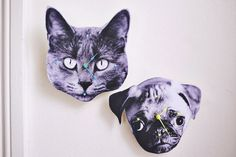 How to make clocks, personalised, handmade, DIY, crafts, crafts for kids, decor, room decor, blogs, curated, how to make DIY clocks, handmade,  photo clock, cats, pugs, a beautiful mess