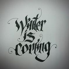 #gameofthrones #calligraffiti #calligraphy #parralelpen #winteriscoming #whitewalker #handlettering #handmade