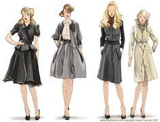 Znalezione obrazy dla zapytania fashion illustration