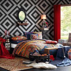 Josie by Natori Hollywood Boho Mini Comforter Set | eBay