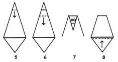 Havrani ze skládačky Origami, Triangle, Chart, Education, Collage, Christmas Decorations, Calendar, School, Ideas
