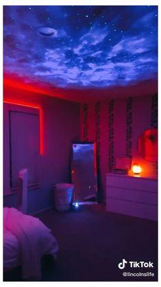 bedroom galaxy tiktok dream cool neon lights projector bedrooms tour murals teen naruto