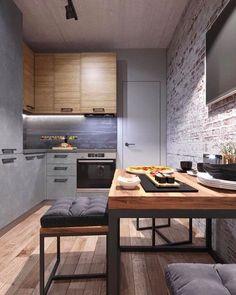 Small Apartment Interior, Condo Interior, Kitchen Interior, Real Kitchen, Home Decor Kitchen, Interior Modern, Home Design, Bathroom Design Luxury, Tiny House Living