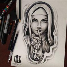 Santa – Tattoo World Chicano Drawings, Chicano Tattoos, Dope Tattoos, Black Tattoos, Body Art Tattoos, Girl Tattoos, Sleeve Tattoos, Tattoo Sketches, Tattoo Drawings