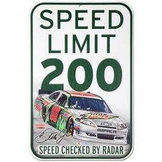 "Dale Jr #88 Diet Mt Dew 11"" x 17"" Speed Limit Sign"
